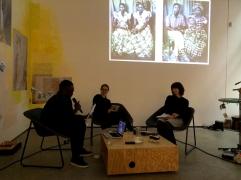 Kemi Bassene, Nora Sternfeld, Sonja Eismann (v.l.)