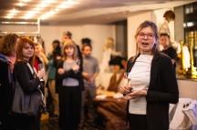 Anastasia Soutormina (Kuratorin) spricht anlässlich des Pre-Opening