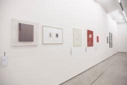 Arbeiten von: Inés Lombardi, Rosemarie Trockel, Oswald Oberhuber, Karlla Girotto, Barbara Graf (v.l.)