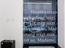 """Angela Wiedermann, """"Verantwortung trägt man jetzt so, Madame"""", 2015"""